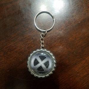 X Men Bottle Cap Keychain
